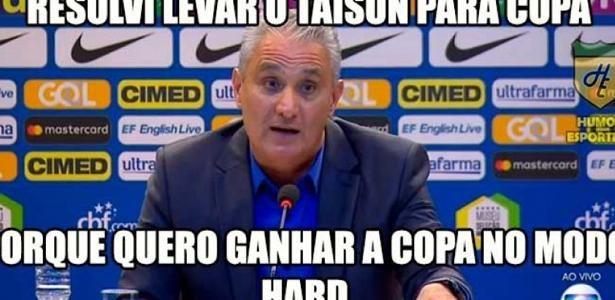 Taison Vira O Favorito Da Zoeira Apos Convocacao De Tite Veja Os Memes Taison Memes Copa Do Mundo