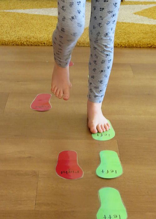 Childhood 101 | Fancy Footwork: An active game for teaching kids left and right