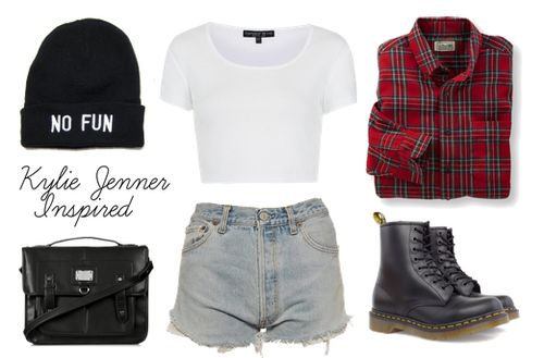 High waisted short, crop top, button up, beanie, cute bag and combat boots #hipster #style