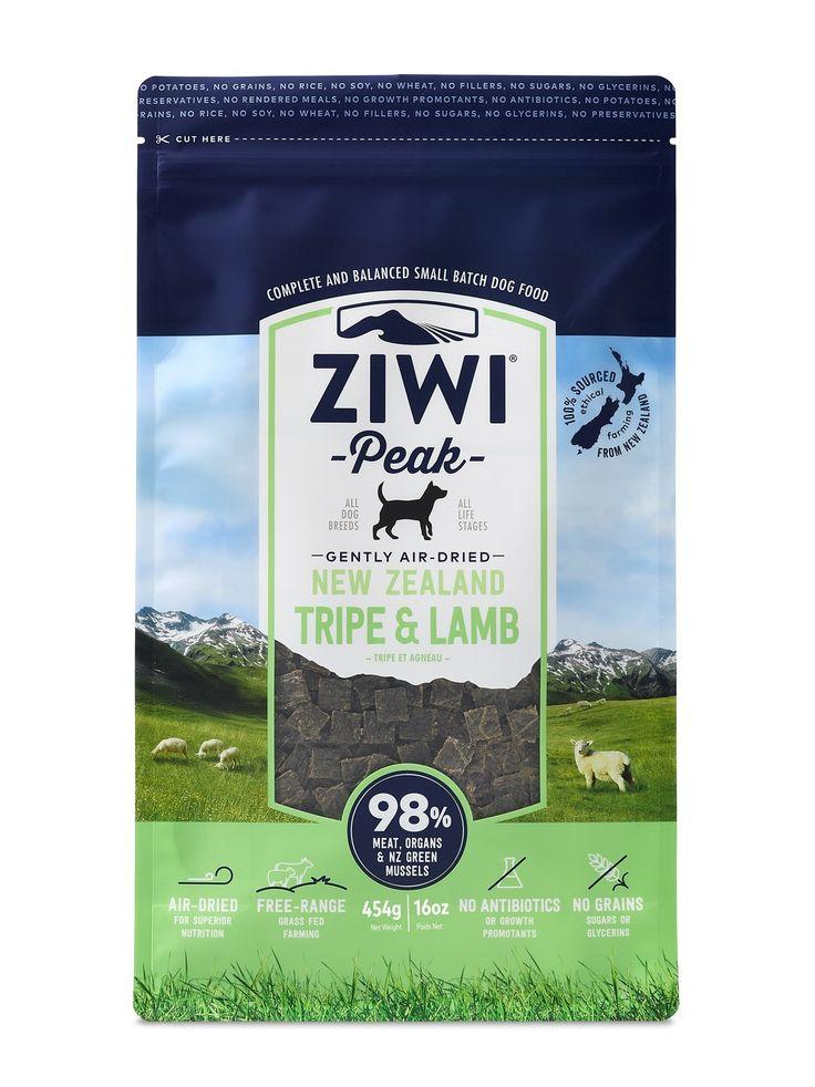 ZIWI PEAK AIR DRIED DOG FOOD 454G POUCH - TRIPE & LAMB