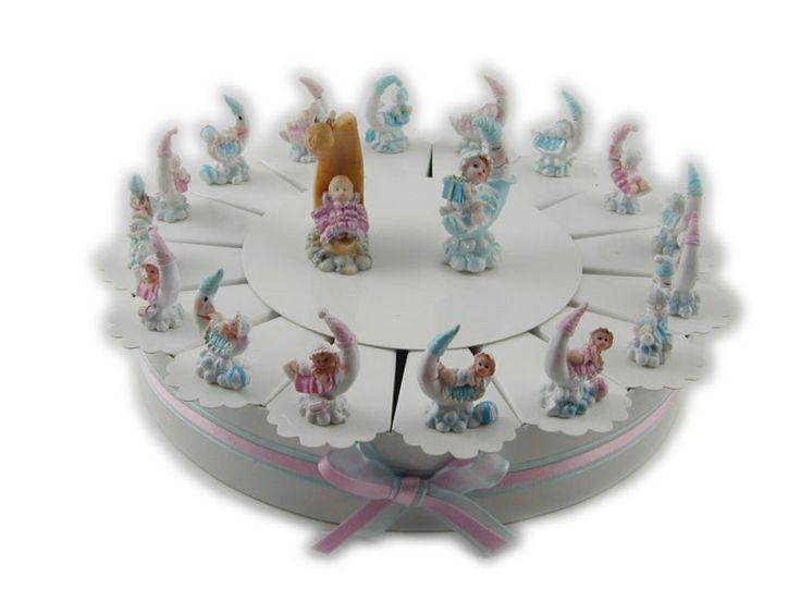 Torta bomboniera nascita per gemelli