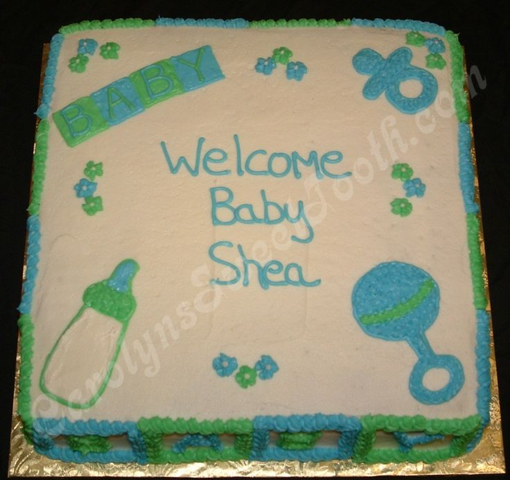 Baby Shower Cakes For Boys | Baby Cake Boy Design Baby Shower Sheet Cake  Made W