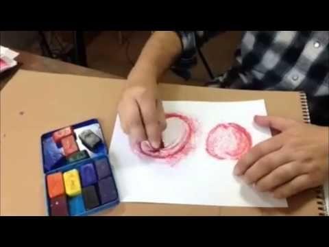 Waldorf Block Crayon Tutorial Series - YouTube