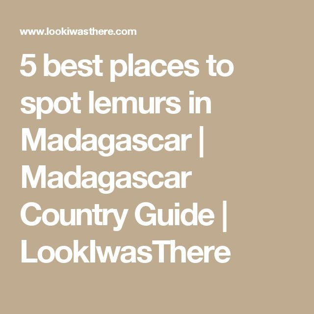 5 best places to spot lemurs in Madagascar | Madagascar Country Guide | LookIwasThere