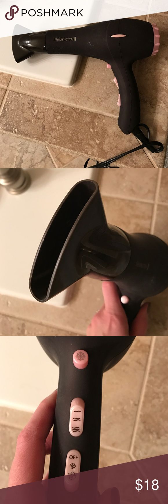 Remington Hair Dryer Almost new Remington Hair Dryer.  Great shape and only used a few times. 3 speeds and 3 levels of heat.  See pics. Remington Accessories Hair Accessories