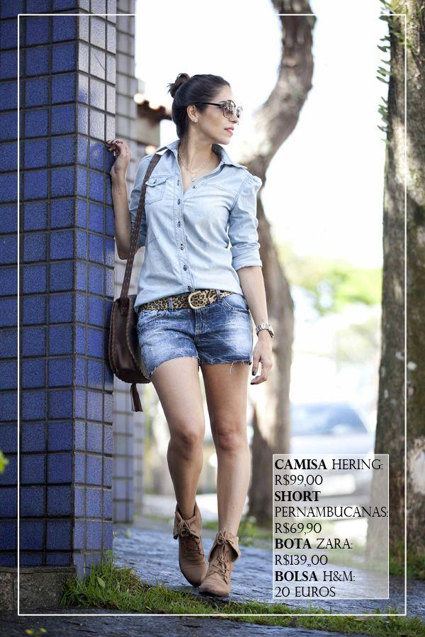 look-all-jeans-short-camisa-pernambucanas-hering-coturno-bege