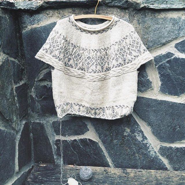 (Photo by @woolenviolet) The Pam sweater pattern by Junko Okamoto - test knitting phase