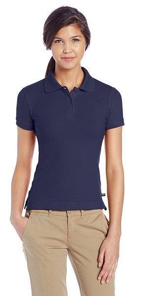 navy blue polo shirts womens