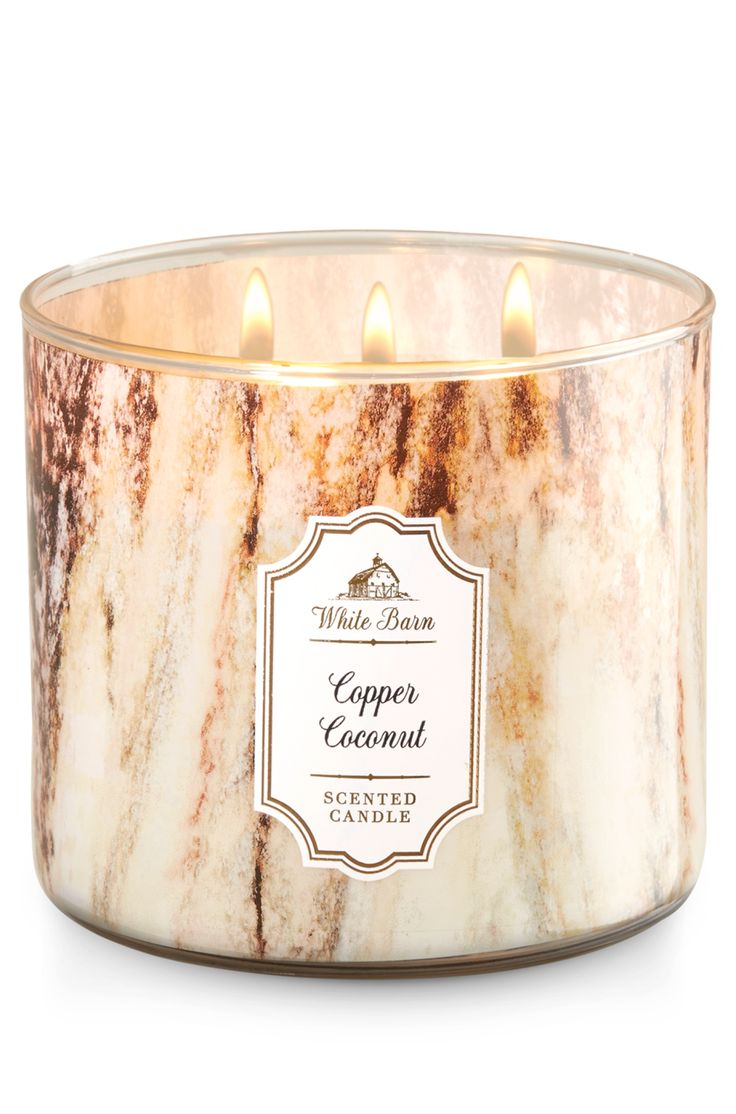 Copper Coconut 3 Wick Candle Home Fragrance 1037181