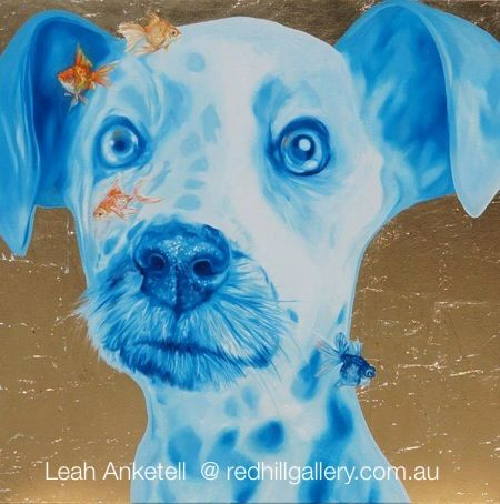 Leah Anketell dog painting. Red Hill Gallery, Brisbane. redhillgallery.com.au