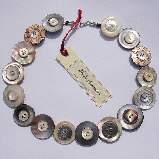 mop button necklace