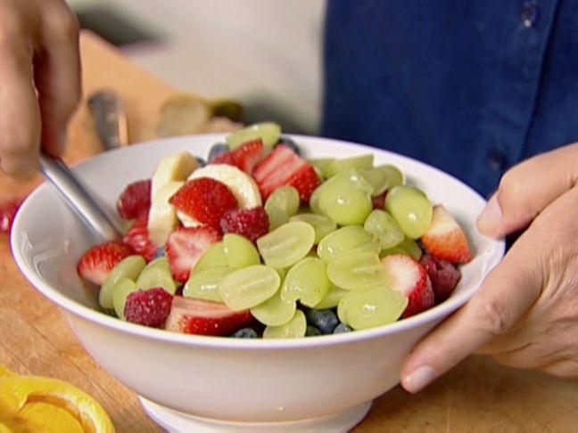 Fresh Fruit Salad with Honey Vanilla Yogurt from FoodNetwork.com