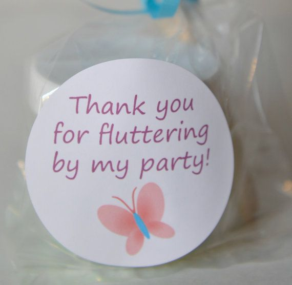 Butterfly Party Favor Thank You Spring Garden  by howwelearnathome