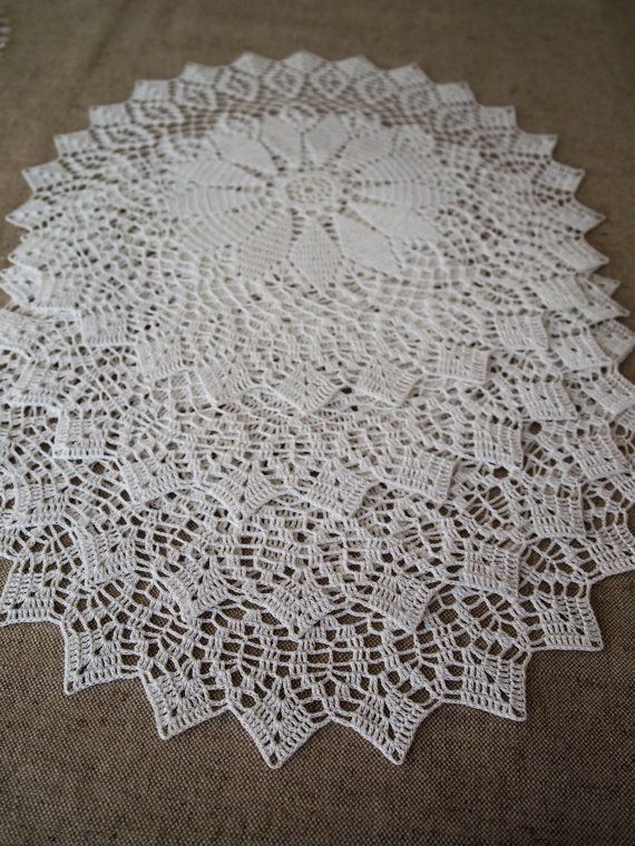 Check out this item in my Etsy shop https://www.etsy.com/listing/507054843/ready-to-ship-set-of-4-crochet-doilies