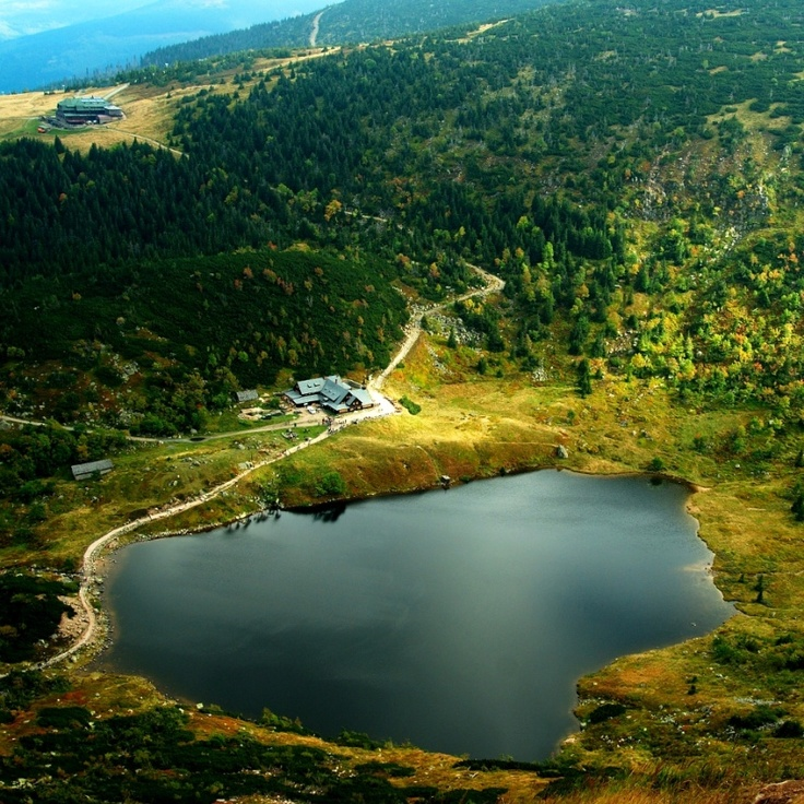 Karkonosze Mountains and Mały Staw Lake in Poland