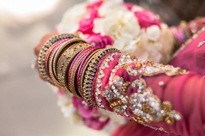 pink on pink wedding colors Indian wedding