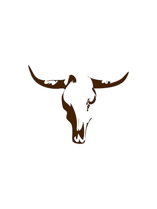 Minimalist Bull Skull Poster