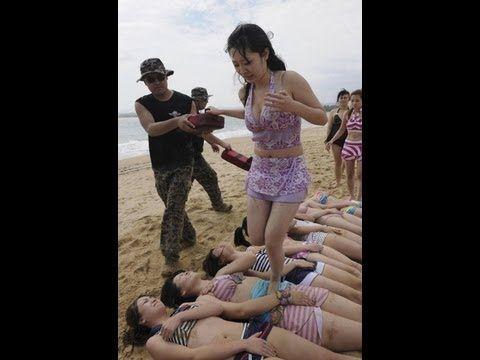 China navy crew training and female navy seals