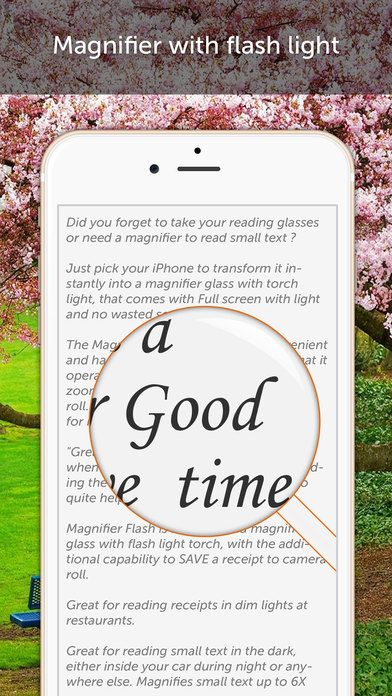 SAVE $0.99: Magnifier Flash - A magnifying glass with light gone Free in the Apple App Store. #iOS #iPhone #iPad  #Mac #Apple