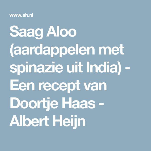 Saag Aloo (aardappelen met spinazie uit India) - Een recept van Doortje Haas - Albert Heijn