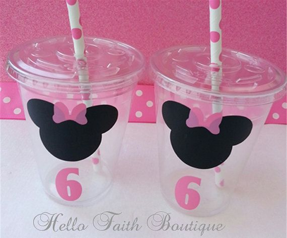 Set of 12 Minnie Mouse Party Cups Minnie Mouse por HelloFaith