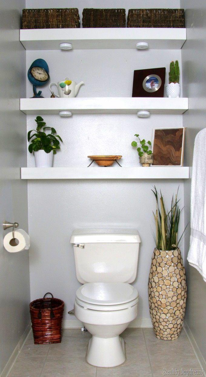 How To Build Diy Floating Shelves Shelves Above Toilet Bathroom