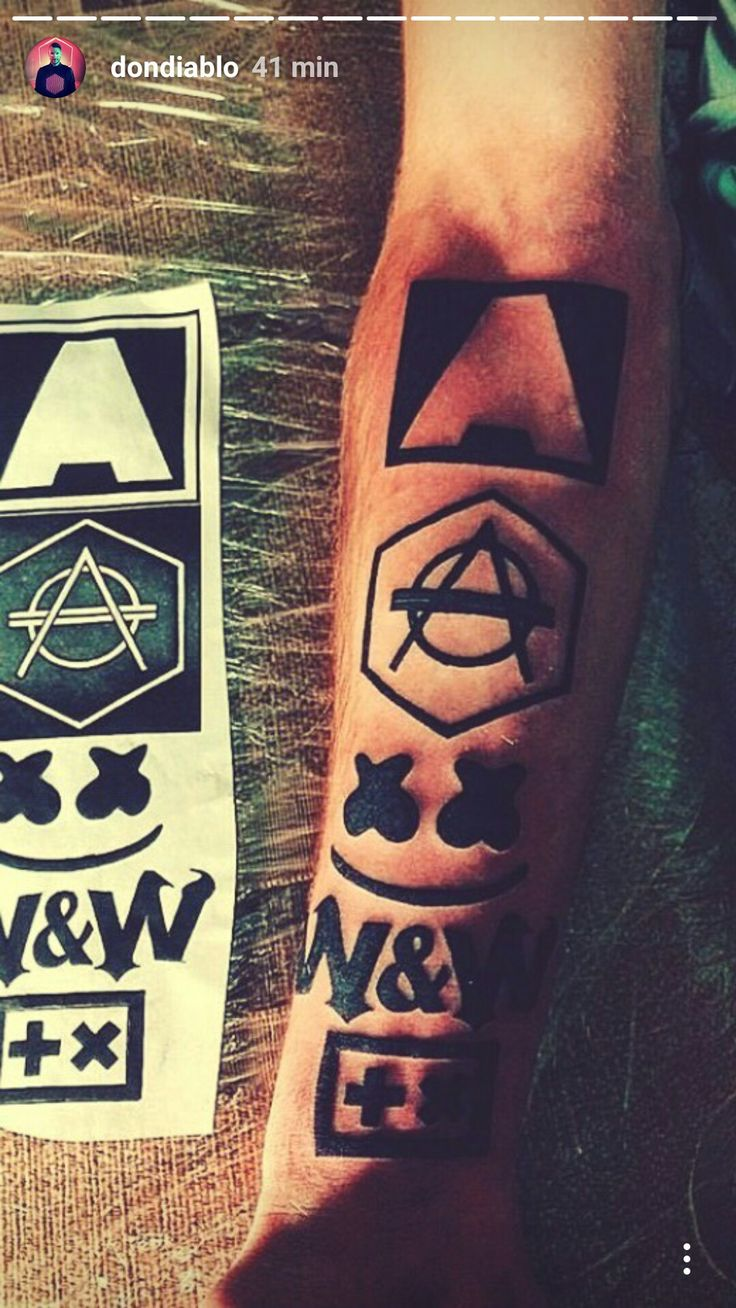 Armin van Buuren, Don Diablo, Marshmello, W&W and Martin Garrix tattoos ❤️