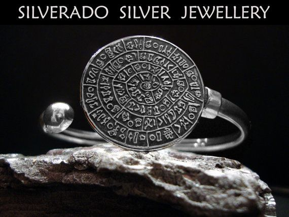 Sterling Silver 925 Phaistos Greek Disc by SilveradoJewellery, €65.00