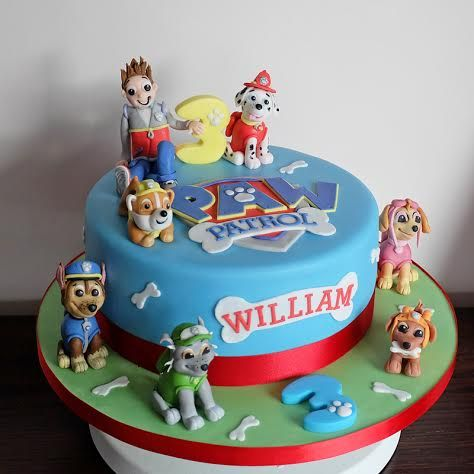 Paw Patrol Cake All Figures Handmade And Edible Great Fun