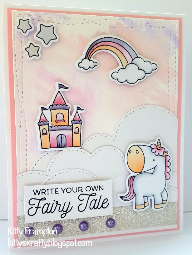 Made for Making Cards Magazine using MFT Magical Unicorn Stamps.