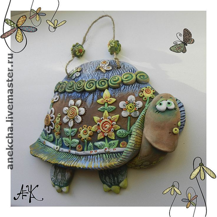 "Керамика, Панно ""Цветочная черепаха"" - Анна Герман  Фьюзинг (Anekcha) - Ярмарка Мастеров http://www.livemaster.ru/item/997559-kartiny-panno-keramika-panno-tsvetochnaya"