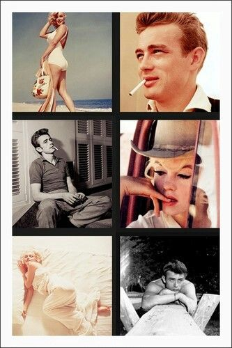 Marilyn Monroe and James Dean <3
