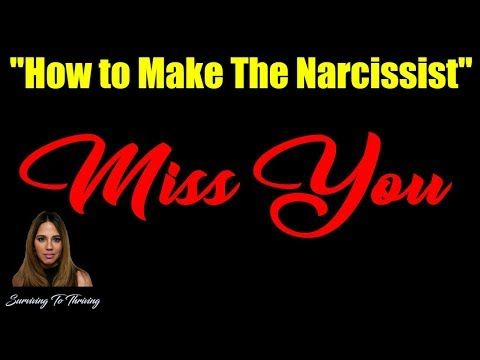6) How To Make The Narcissist MISS YOU After Discard