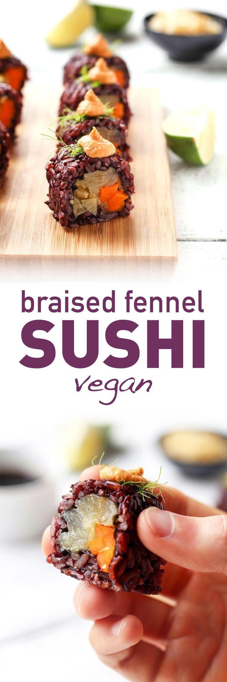 Vegan Braised Fennel Sushi Recipe