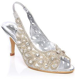 18 low heeled Ivory wedding shoes online Designer bridesmaid shoes sequinned
