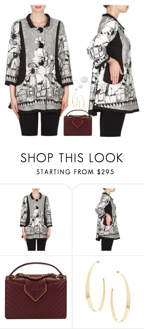 """Joseph Ribkoff Coat 173899"" by wardrobefashionperth on Polyvore featuring Chanel, Lana and Topshop"