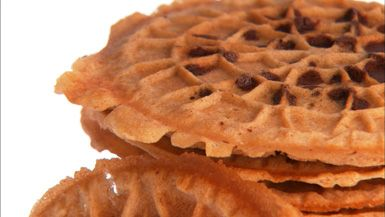 Chocolate Chip and Cinnamon Pizzelles