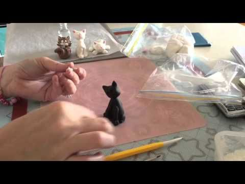 How To Make A Fondant Cat Tutorial Part 2 - YouTube
