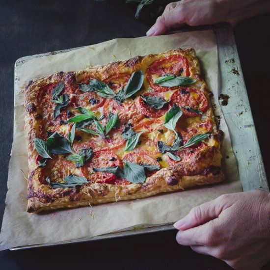 Three Cheese Tomato Tart for all the tomatoes you have left in your ...