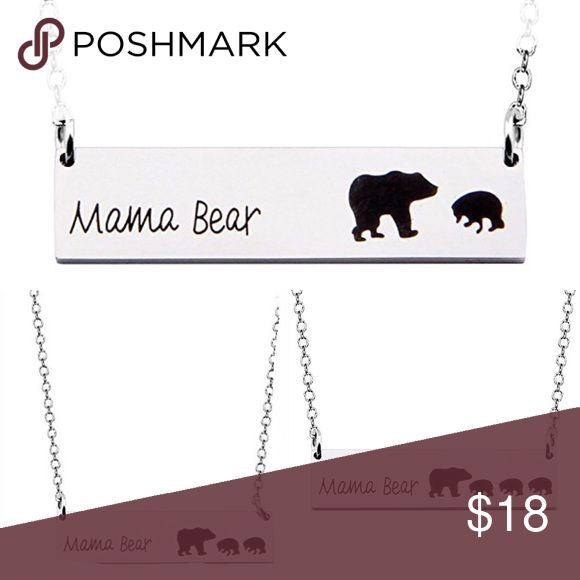 Mama Bear and Cubs necklace Mama Bear and her Cubs 1 🐻2 🐻🐻or 3 🐻🐻🐻cubs available! Made of Alloy Silver. MooseJewel Jewelry Necklaces