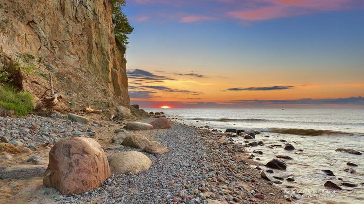Baltic Sea Sunrise, Poland #SunKuWriter #Portugal  FREE Books ► http://Sun-Ku.com ◄