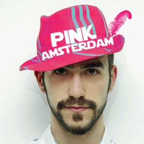 Hat for Pink Amsterdam Party