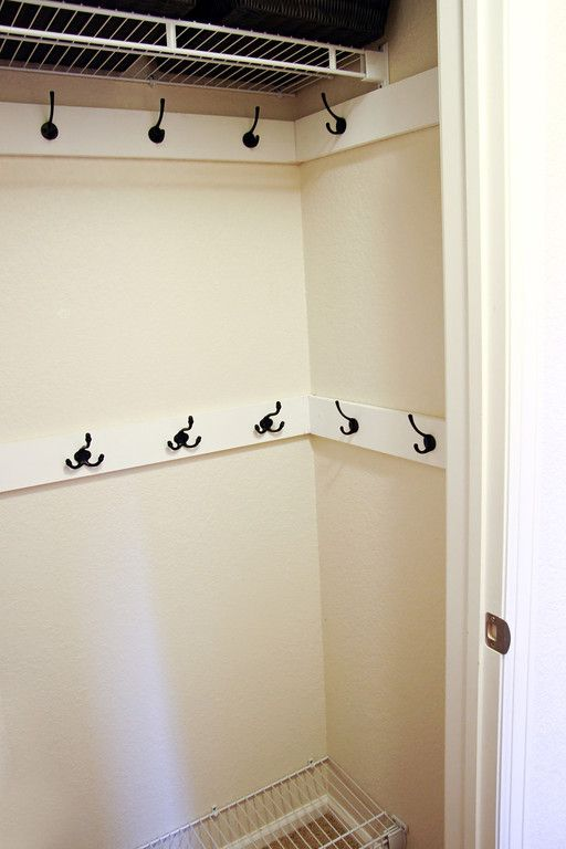 COAT CLOSET MAKEOVER - hmmm I need to think about this idea.....for front closet.