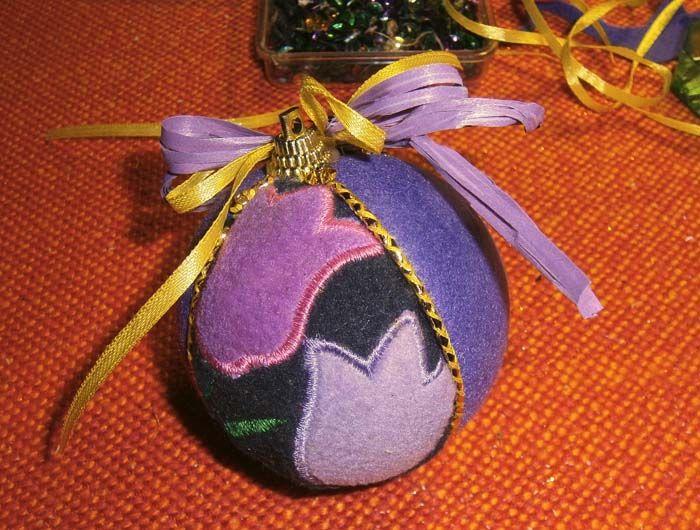 Pallina in patchwork con feltro