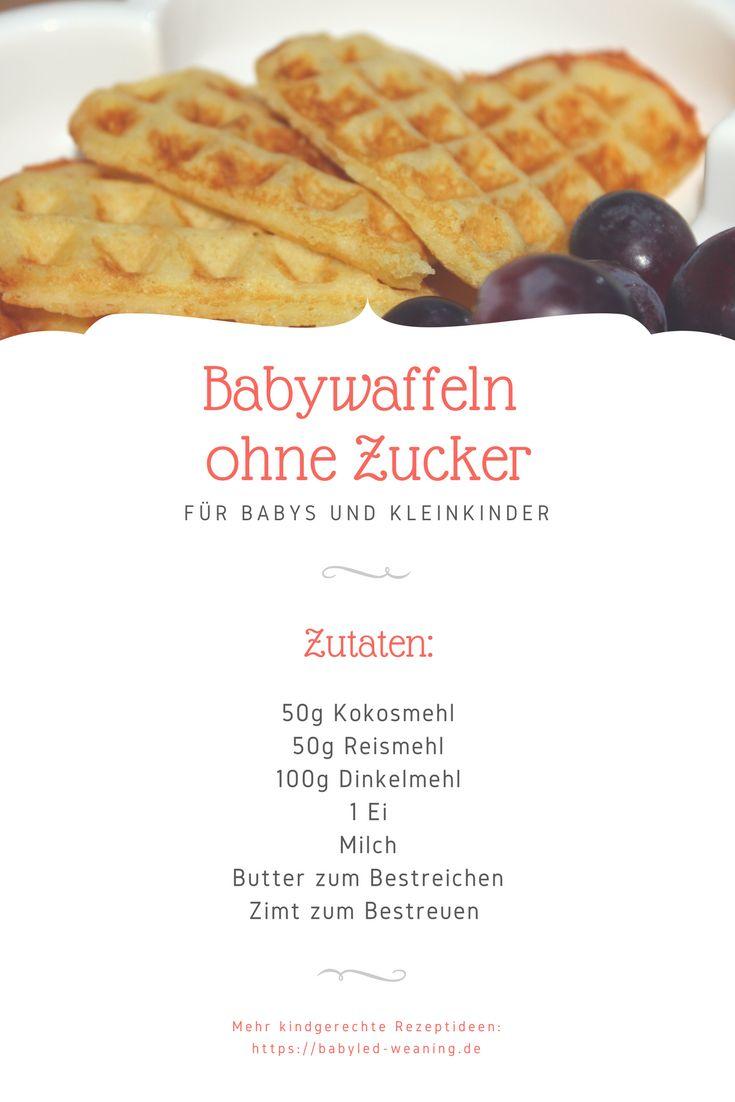 Leckere BLW-Waffeln ohne Zucker für Babys ab 6 Monate: Verzichte auf Industriezucker und erfahre jetzt, womit Du Babywaffeln natürlich süßen kannst.