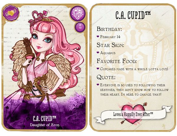 Ever After High C.A. Cupid Card