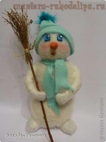Мастер-класс: Снеговик из салфеток и синтепона