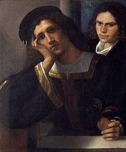 Giorgione - Il Doppio ritratto è un dipinto a olio su tela (80x75 cm) attribuito a Giorgione, databile al 1502 circa e conservato nel Museo nazionale del Palazzo di Venezia a Roma.