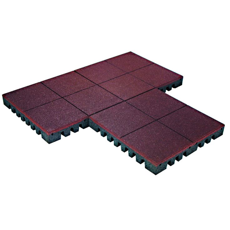 PlayFall Playground Rubber Tiles   Terra Cotta 2.5 Inch Safety Surfacing  (20 Sq.