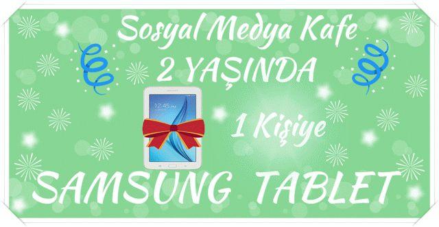 Sosyal Medya Kafe-Genel Konular Üzerine: Samsung Tablet Çekilişi -Sosyal Medya Kafe 2 Yaşın...